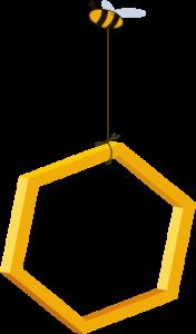 bee holding honeycomb