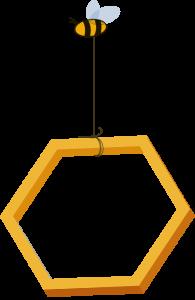 bee holding honeycomb three